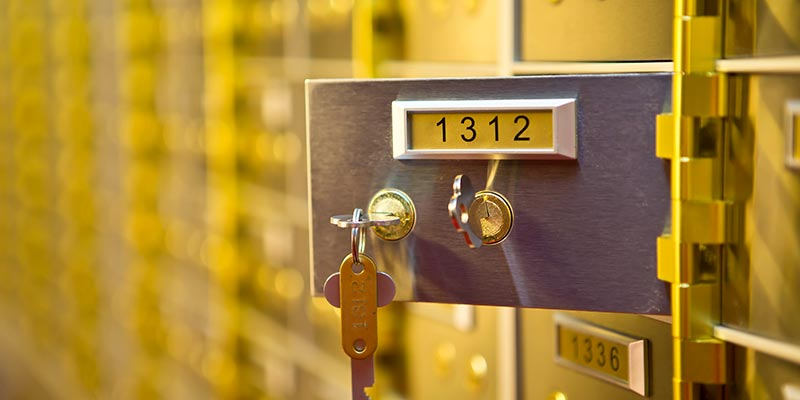 safety deposit boxes Preston